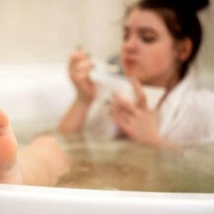 bain peignoir coton