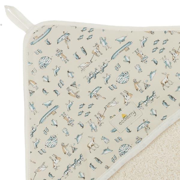 cape bain coton biologique bebe esquimaux
